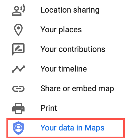 Download your Maps data
