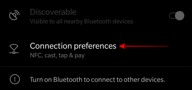 Head to the 'Connection Preferences' option