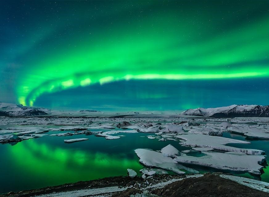 Northern Lights in Arctic Europe