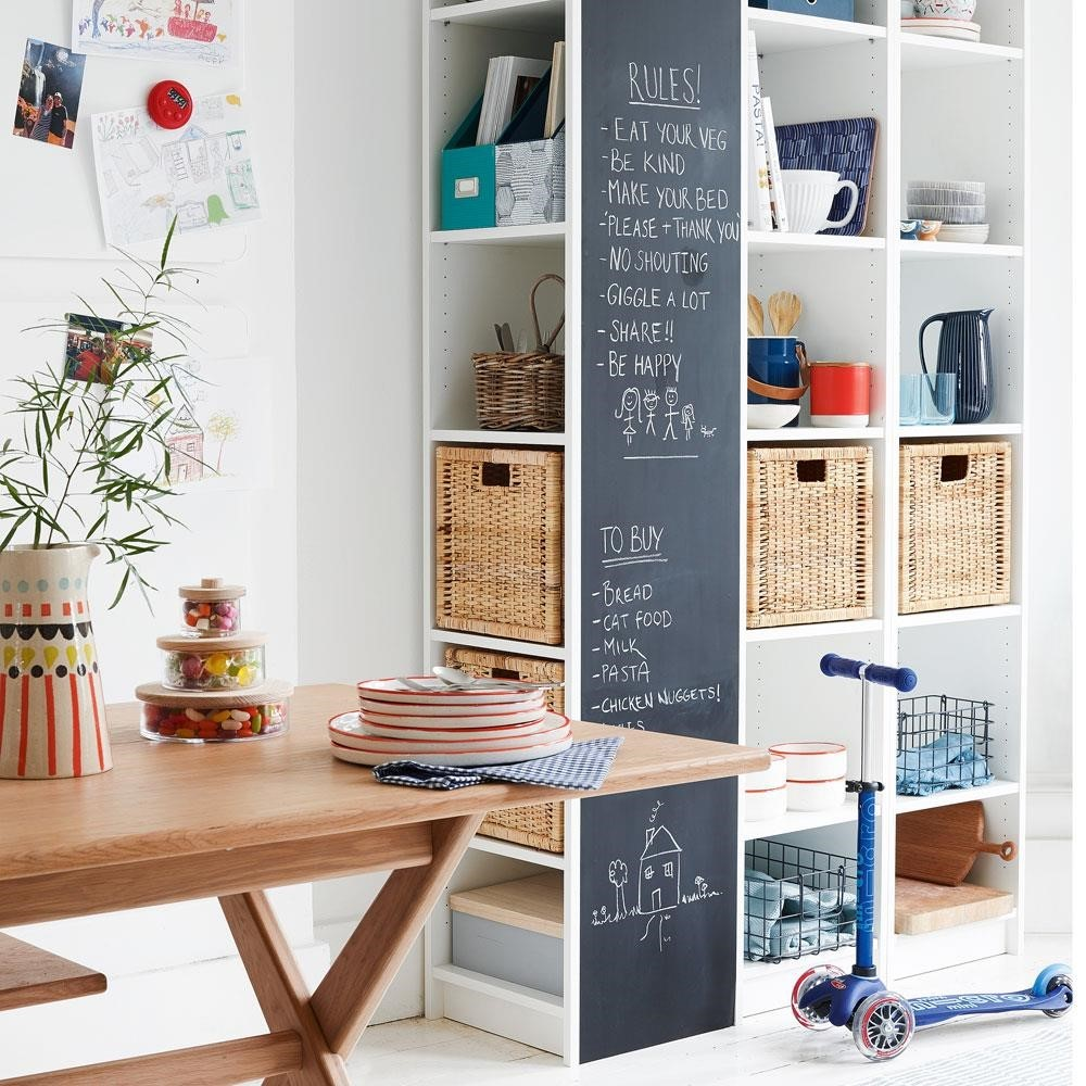 Mix freestanding with fixed storage